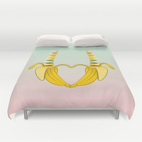 Gay Pride Banana Duvet Cover by Mailboxdisco