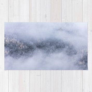 Beneath The Fog Rug by Mixed Imagery