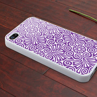 iphone 4 case iphone 4s case iphone 4 cover classic illustrator purple flower graphic design printing