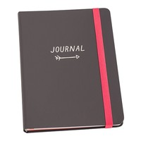 A5 BONDED LEATHER NOTEBOOK GREY: FOLLOW YOUR PATH - Sale - Shop By