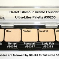Graftobian HD Glamour Creme Palette Ultra-Lites - Combination Sets & Palettes - Makeup