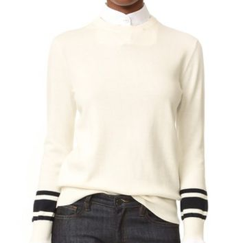 Contrast Cuff Sweater