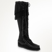 Rebecca Minkoff Knee High Lace Up Boot | Minnetonka Moccasin