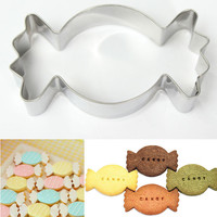 Stainless Steel Candy Shape Cookie Cutter Fondant Biscuit Cake Decorating Baking Pastry Mold Mould Tool