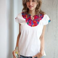 Mosaico Embroidered Top