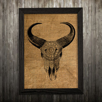 Bull skull decor Anatomy poster Animal print Skull print BLP565