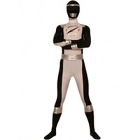 Catsuits & Zentai Classic Black And White Lycra Spandex Super Hero Costume [TZK25035] - $38.99