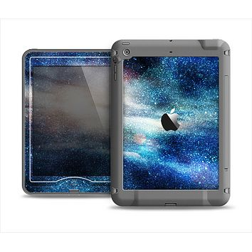 The Blue & Gold Glowing Star-Wave Apple iPad Mini LifeProof Nuud Case Skin Set