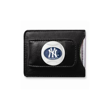 MLB Yankees Leather Money Clip