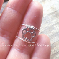 Silver Knuckle Ring, Midi Ring, Silver Midi Ring, Dog Ring, Adjustable Ring, Sterling Silver Ring, Mid Finger Ring, Above Knuckle Ring