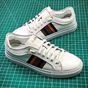 Paul Smith White Leather Shoes - Best Online Sale