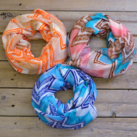 Marion Falls Antique Chevron Infinity Scarves