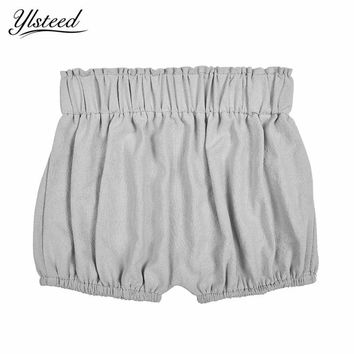 Hot Baby Boy Girls Cotton Shorts Diaper Cover Baby Ruffle Bloomer Infant Panties Bloomers Toddler Summer Solid Color Shorts