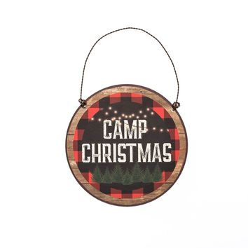 CAMP CHRISTMAS WITH BORDER ORNAMENT