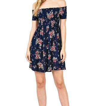 Petite Fleur Off Shoulder Dress