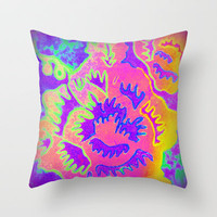Neon Fantasy Throw Pillow by Jan4insight