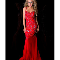 Sale! Jasz Couture 2013 Prom Dresses - Red Sexy Rhinestoned Gown - Unique Vintage - Prom dresses, retro dresses, retro swimsuits.