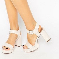 ASOS HARBOUR Wide Fit Platform Sandals at asos.com