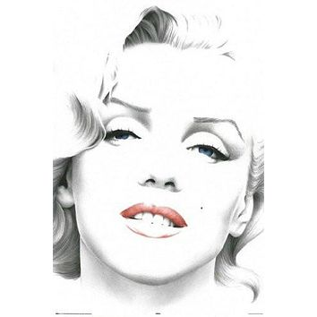 MARILYN MONROE POSTER Sketch Blue Eyes RARE HOT NEW 24x36