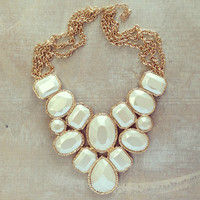 Pree Brulee - Silver Moonlight Statement Necklace