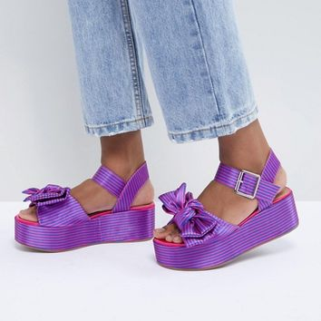 ASOS DESIGN Hester Flatform Sandals at asos.com
