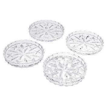 Gorham Lady Anne Crystal Coaster Set of 4