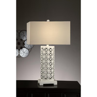 Crestview Collection Greenwich Lighting Starlight Table Lamp, Gloss White