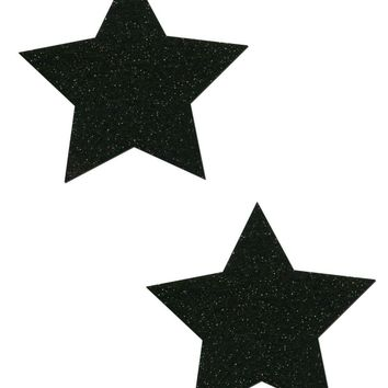 Star: Sparkle Black Stars Pasties