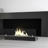 Contemporary Design Glo Flame Wall Fireplace