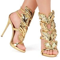Leaf Flame Gladiator Sandals