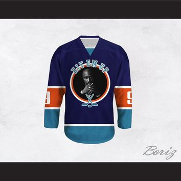 Tupac Shakur 9 Hit Em Up Hockey Jersey Design 5