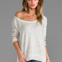 AG Adriano Goldschmied Hi-Low Pullover Sweatshirt in Heather Grey from REVOLVEclothing.com