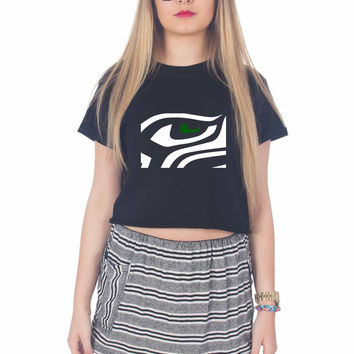 Seattle Seahawk For Womens Crop Shirt **