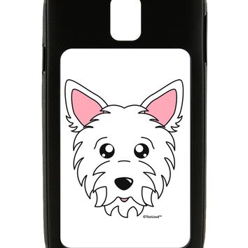 Cute West Highland White Terrier Westie Dog Galaxy Note 3 Case  by TooLoud