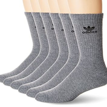 adidas Men's Originals Cushioned 6-Pack Crew Socks