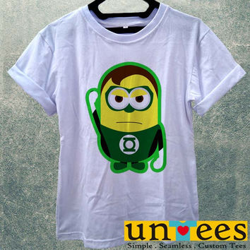 Low Price Women's Adult T-Shirt - Funny Minions Green Lantern Despicable Me design