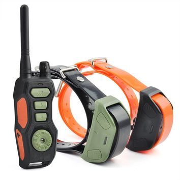 Waterproof Rechargeable Vibrate Pet Dog Training Collar 880 yards Remote Dog Training Collar PET618 for 1 or 2 or 3 dogs