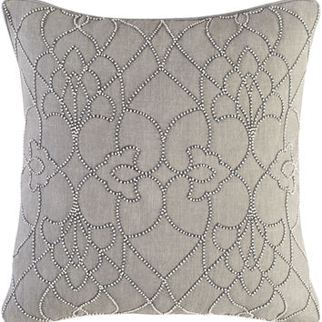 Surya Dotted Pirouette Throw Pillow Gray, Gray