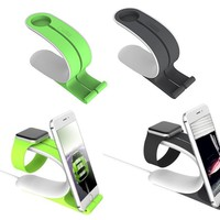 Apple iWatch charger iPHONE LOCA 2 IN 1 Dock stand Holder Apple Watch 38mm 42mm