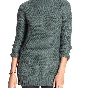 Banana Republic Factory Marled Mock Neck Sweater