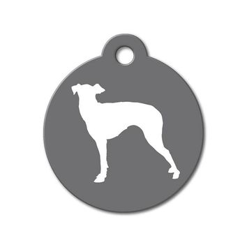 Greyhound - Silhouette Pet Tag