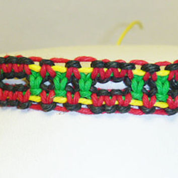 Rasta Hemp Bracelet or Anklet 3 handmade jewelry custom welcome macrame unisex girls womens