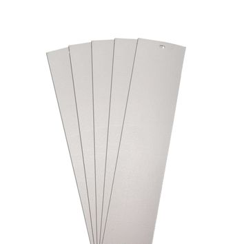 DALIX Chaparral Replacement Blinds Vertical Window Slats Panel Gray 5 Pack
