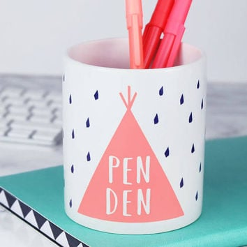 Pen Den - Pen Pot - Desk Tidy - Stationery Organiser - Organizer - Pencil Pot – Pen Caddy