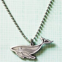 Humpback Whale Charm Necklace