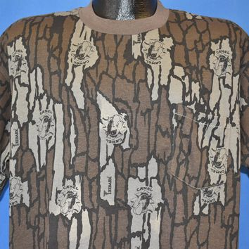 90s Camel Cigarettes Camouflage All Over t-shirt Extra Large