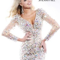 Sherri Hill Short Dress 2946 at Peaches Boutique