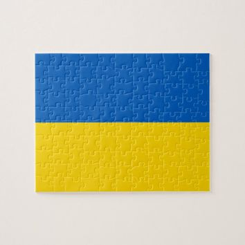 Puzzle with Flag of Ukraine