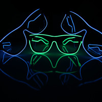 El Wire Glasses Light up Festival Glasses