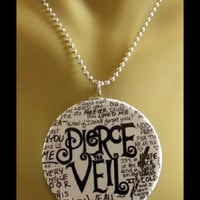 "PIERCE THE VEIL 2.25"" Unisex Necklace 26"" Silver Chain (Music Necklace)"